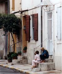 Kinder vor der Haustür
